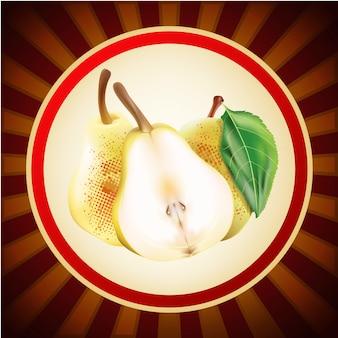 Modello di design di layout di frutta pera