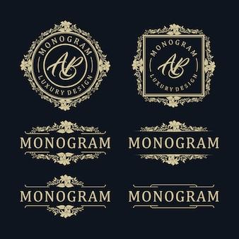 Modello di design di lusso per il matrimonio e la decorazione
