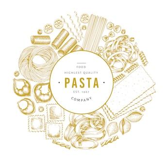 Modello di design di pasta italiana