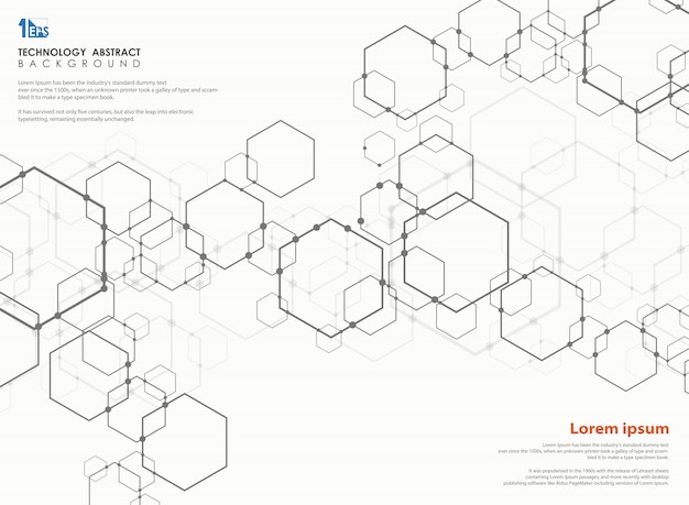 Modello di design moderno pentagono tecnologia.
