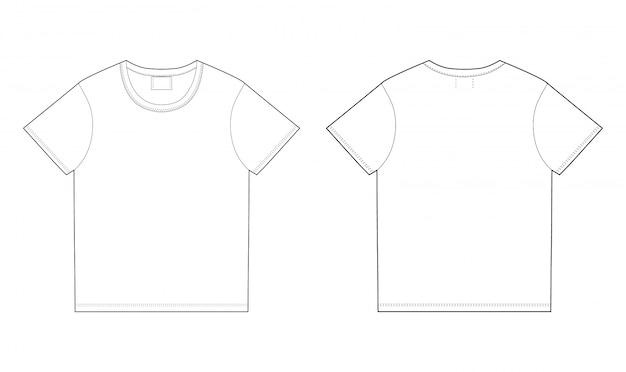 Modello di design t-shirt. davanti e dietro