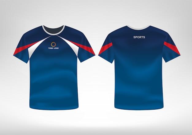 Modello di design t-shirt sportiva