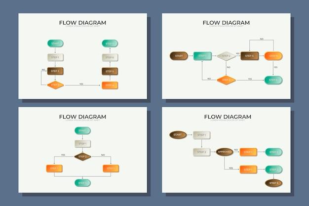 Modello di diagramma infografica