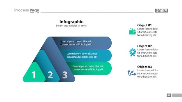 Modello di diapositiva con tre elementi