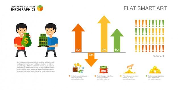 Modello di diapositiva del diagramma percentuale