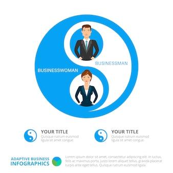 Modello di diapositiva di affari infographics