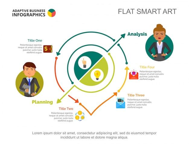 Modello di diapositiva di analisi e pianificazione