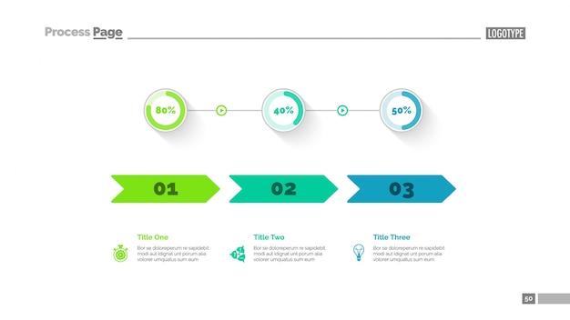 Modello di diapositiva di confronto di tre opzioni