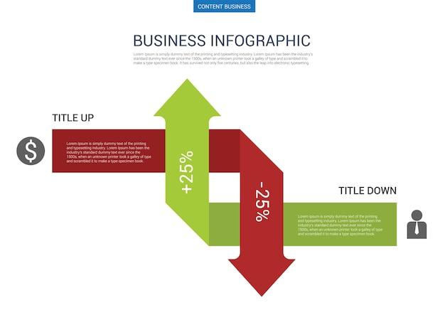Modello di diapositiva di presentazione aziendale infografica