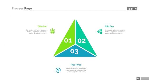 Modello di diapositiva diagramma a triangolo