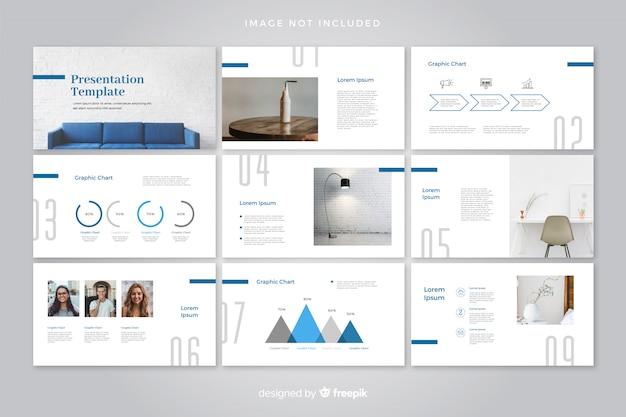 Modello di diapositive minime