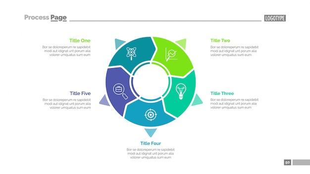 Modello di diapositive per il business diagramma