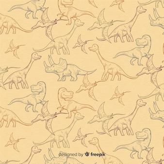 Modello di dinosauro disegnato a mano