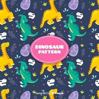 Modello di dinosauro piatto