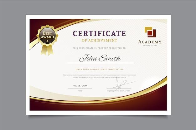 Modello di diploma moderno