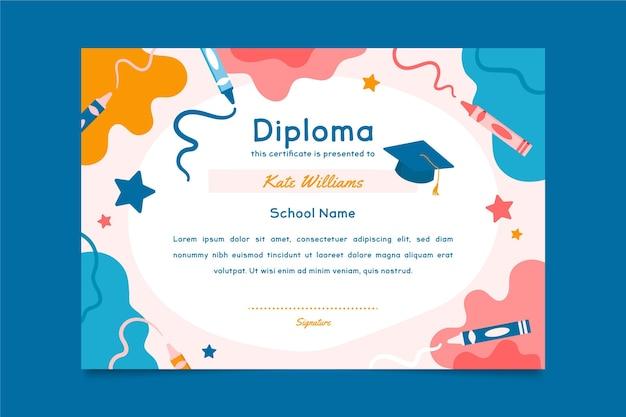 Modello di diploma per bambini