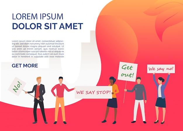 Modello di diritti di diapositiva di femminismo rosso