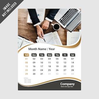 Modello di disegno del calendario