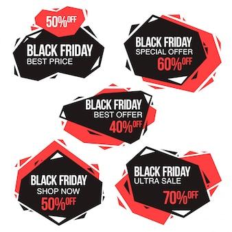 Modello di disegno della bandiera di vendita venerdì nero. layout concettuale per web e stampa.