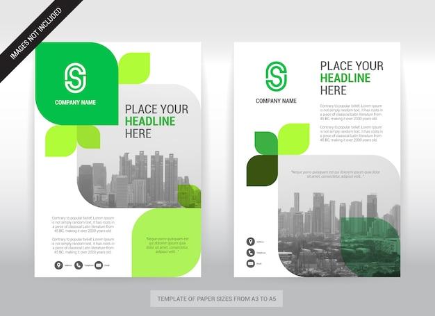 Modello di disegno della copertura di affari del fondo della città.