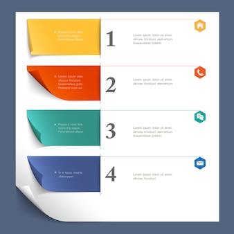 Modello di disegno di carta per il layout del sito web