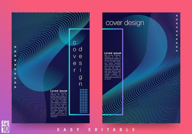 Modello di disegno di copertina moderna con design elegante astratto
