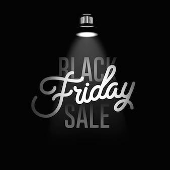 Modello di disegno di iscrizione di vendita di black friday. banner del black friday