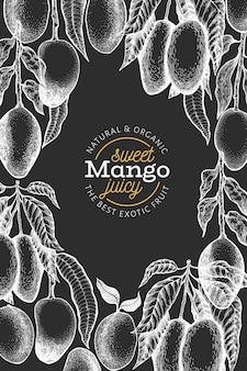 Modello di disegno di mango