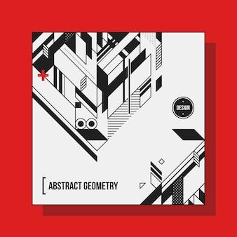 Modello di disegno di sfondo quadrato con elementi geometrici astratti. utile per copertine di cd, pubblicità e poster.