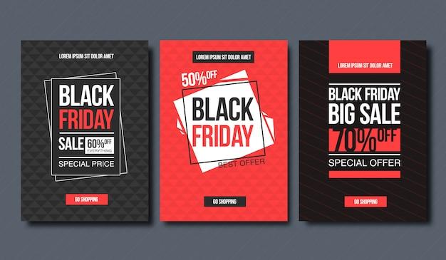 Modello di disegno di vendita venerdì nero. layout concettuale per banner e stampa.