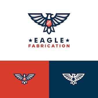 Modello di disegno di vettore dell'illustrazione di eagle concept
