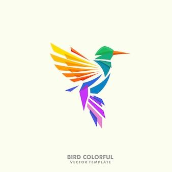 Modello di disegno di vettore di concetto dell'illustrazione dell'uccello di ronzio