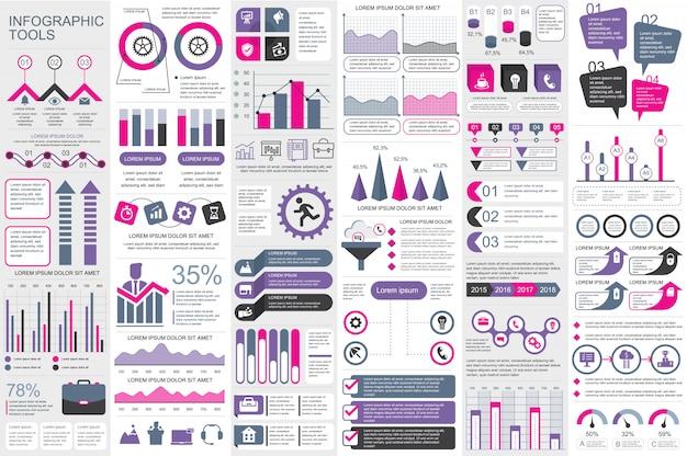 Modello di disegno di vettore di elementi di infografica