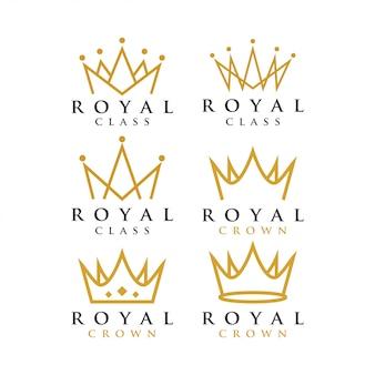 Modello di disegno grafico della corona reale
