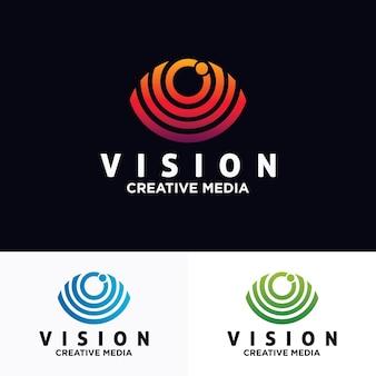 Modello di disegno vettoriale logo occhio