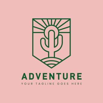 Modello di distintivo logo avventura all'aperto