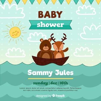 Modello di doccia bambino carino
