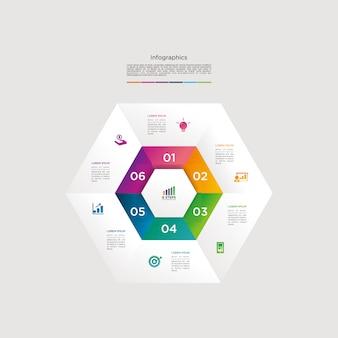 Modello di download del grafico di vettore di infographic moderno