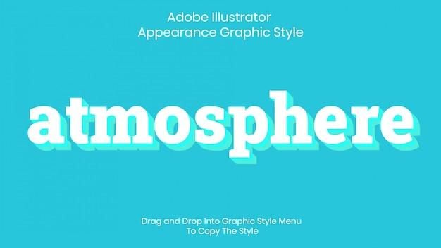 Modello di effetto stile testo atmosfera