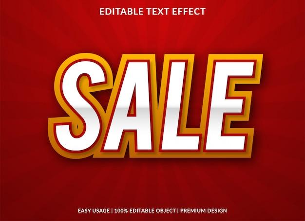 Modello di effetto testo di vendita con stile premium