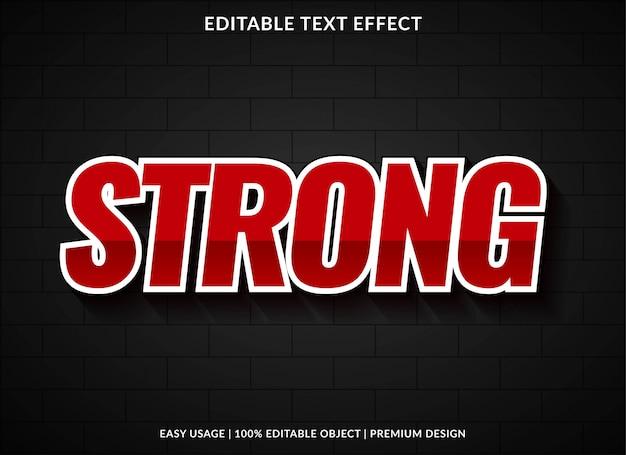 Modello di effetto testo forte