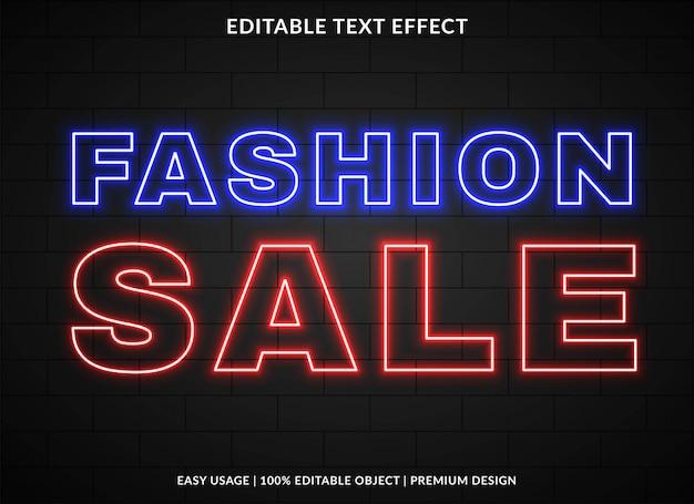 Modello di effetto testo vendita di moda