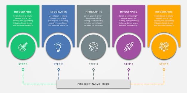 Modello di elementi di design infografico