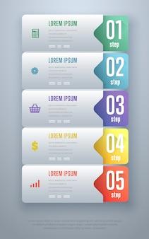 Modello di elementi di infografica