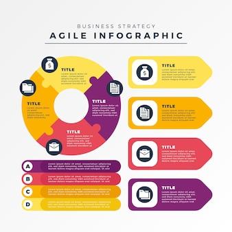 Modello di elementi infographic agile