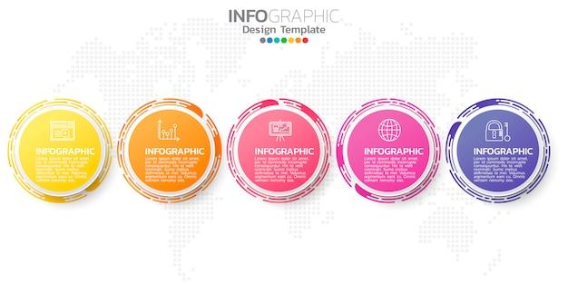 Modello di elemento colorato infografica