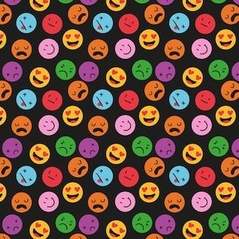 Modello di emoticon colorate diverse