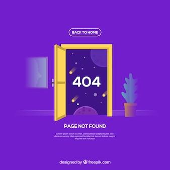 Modello di errore 404 in stile piano