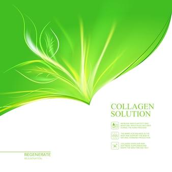 Modello di etichetta crema cosmetica e cura della pelle biologica.