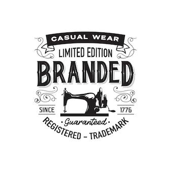 Modello di etichetta di abbigliamento vintage
